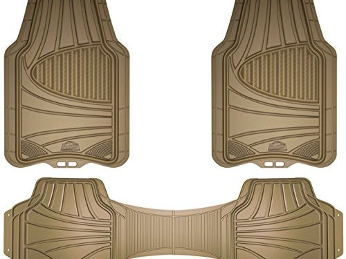 Custom Accessories Armor All 78845 3-Piece Tan Full Coverage Rubber Floor Mat