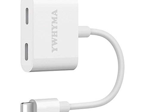 YWHYMA Adapter Compatible with Phone X/8/8Plus7/7Plus Dual Adapter Headphone Adaptor with Call & Audio & Charge & Wire Control Function Headset Converctor Cable Splitter Compatible iOS 12 or Later