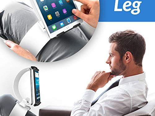 Clamp Champion Pro – Smartphone and Tablet Stand for The Bed Sofa – for 2-12 Inch Devices White – Universal Tablet and Cell Phone Holder
