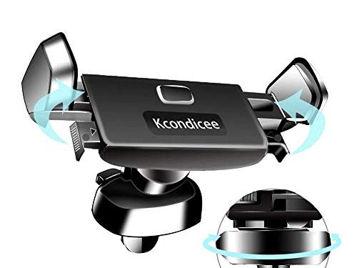 Car Phone Mount,Kcondicee Smartphone 360 degree rotation Car Air Vent Mount Holder Cradle Compatible with iPhone XR XS Max 8 Plus 7 SE 6s Plus 6 5s Samsung Galaxy S7 S6 LG Nexus Sony Nokia and More