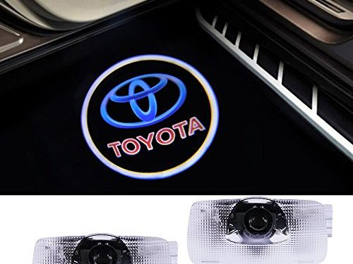 Toyota Compatible Logo Lights Ghost Lamp Accessories Door Lights Projector Easy Installation Welcome Emblem for Camry/Prius/Sequoia/Sienna/Tundra/Venza
