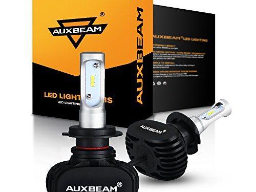 1 Year Warranty – Auxbeam H7 LED Headlight Bulb NF-S1 Series 50W 8000lm 6000K White Philips CSP LED Headlight Conversion Kit