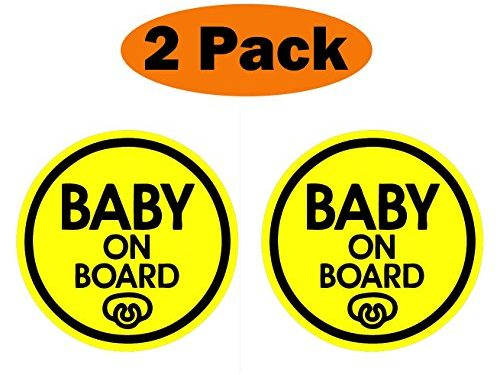 Baby Pacifier – TOTOMO #ALI-031 Set of 2 Baby on Board Magnet Decal Safety Caution Sign for Car Bumper