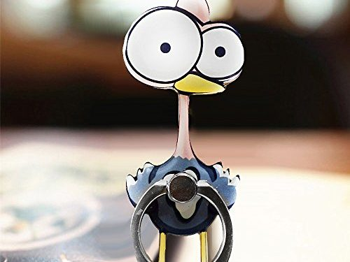 Cell Phone Finger Ring Holder Cute Animal Smartphone Stand 360 Swivel For Iphone, Ipad, Samsung HTC Nokia Smartphones, Tablet Ostrich