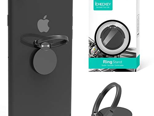 ICHECKEY Finger Ring Stand 360° Rotation Cell Phone Ring Stand Holder Grip Kickstand Universal Mobile Phone Ring for iPhone 6 6s 7 7 Plus, Samsung Galaxy S6 S7 S8 S8 Plus, Note, LG