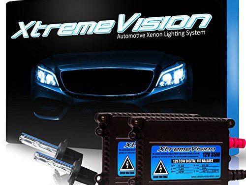 XtremeVision 35W HID Xenon Conversion Kit with Premium Slim Ballast – H7 10000K – 2 Year Warranty – Dark Blue