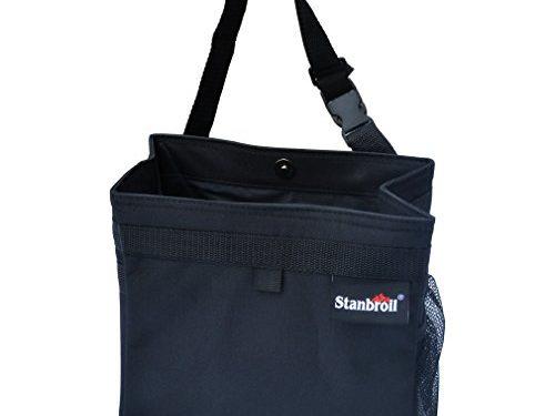 Stanbroil Waterproof Car Trash Bin Leak proof Auto Litter/GarbageBag with Side Pocket, Black