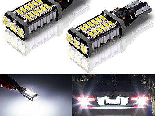 Antline 921 912 T15 906 W16W LED Bulb White 1000 Lumens Super Bright, 9-30V CANBUS Error Free 30-SMD 4014 Chipset Replacement Back Up Reserve Lights, Pack of 2
