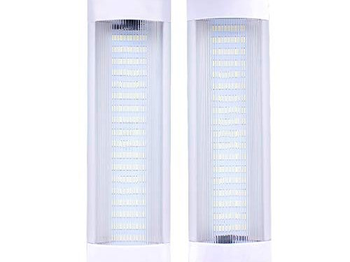 72 LEDs 11″ Car Interior Led Light Bar White Light Tube with On/Off Switch for Car Van Truck RV Camper Boat Work as Map Light/Dome Light/Trunk or Cargo Area Light/Rear Room Light etc- Pair of 2
