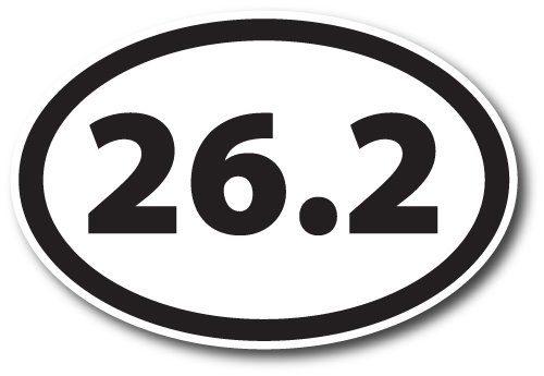 26.2 Marathon Black Oval Car Magnet Decal Heavy Duty Waterproof