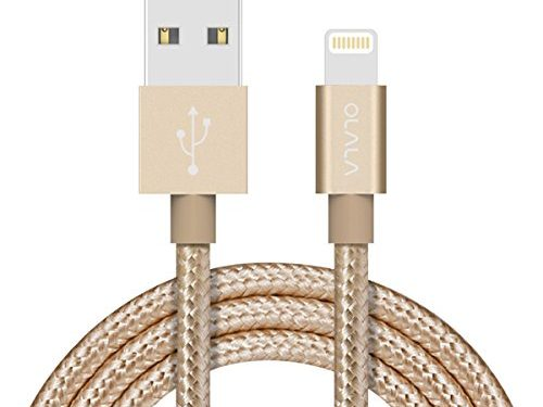 Apple MFi Certified OLALA 3.3 Feet/1 Meter Nylon Braided Lightning to USB Cable Sync and Charging Charger Cord for iPhone, iPad and More Gold