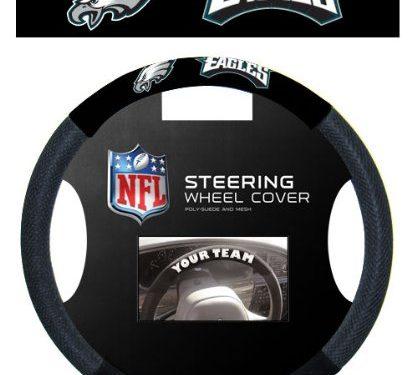 Fremont Die NFL Philadelphia Eagles Massage Grip Steering Wheel Cover, One Size, Black