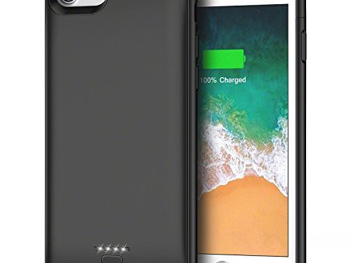 Battery Case for iPhone 6 6s, 4000mAh Portable Protective Charging Case for iPhone 6 6s4.7 inch Extended Battery Charger Case-Black
