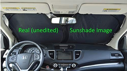 A1 Windshield Sun Shades A1+35 Sun Shade for Car SUV Truck Minivan Ultra-Premium 230T Nylon Hassle Free Size-Chart Available UV Ray Reflector Sunshade your Vehicle Cool and Damage Free