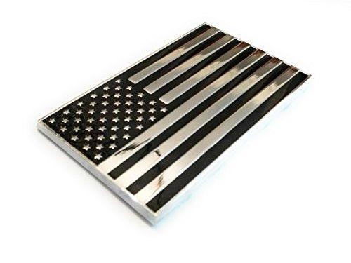 Shadow Six Romeo Military Army Chrome Metal Decal Auto Emblem US Flag