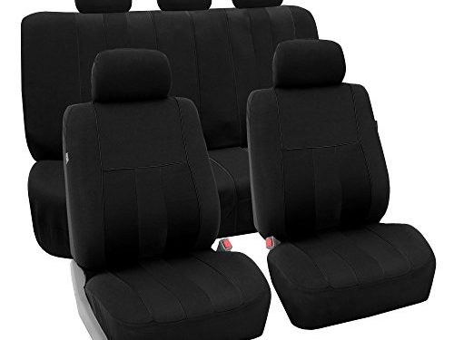 FH Group FB036BLACK115 Seat Cover Airbag Compatible and Split Bench Black