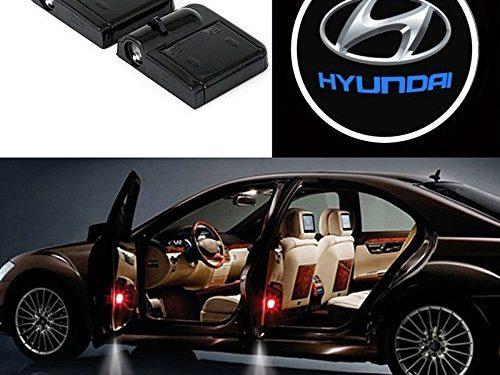 Bearfire 2 Pcs Wireless Car Door Led Welcome Laser Projector Logo Light Ghost Shadow Light Lamp Logos hyundai