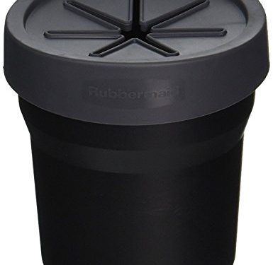 Rubbermaid Automotive Cup Holder Trash Can: Leakproof Car Garbage Bin/Waste Basket Organizer Caddy