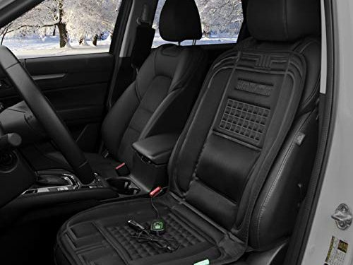 iHealthComfort 12V Car Heated Seat Cushion Cover Pad Black
