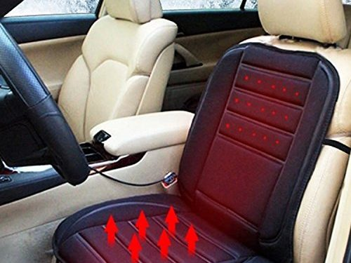 12V Auto Comfortable Car Heated Seat Cushion Hot Cover Warmer Pad in Winter Black