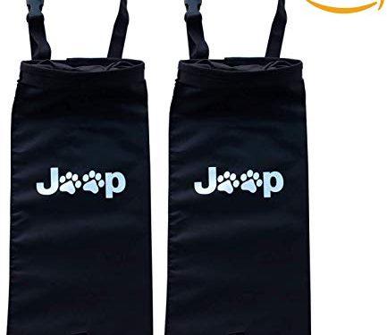 Rorex 2 Pack Jeep Wrangler Accessories JK Dog Paw Hanging Trash Bag, Storage Bag, Organizer, Trash/Garbage Can