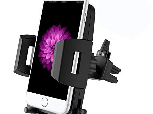 Car Phone Mount, VUP Car Air Vent Phone Holder Car Mount with Adjustable Strong Clip, One-Touch Design Compatible for iPhone Xs/Xs Max/XR / X / 8/8 Plus / 7/7 Plus Samsung Galaxy S9 / S9 Plus and More