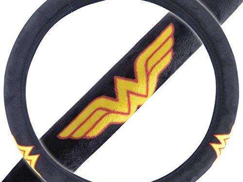 BDK Wonder Woman Gift Car Accessories Velour Steering Wheel Cover