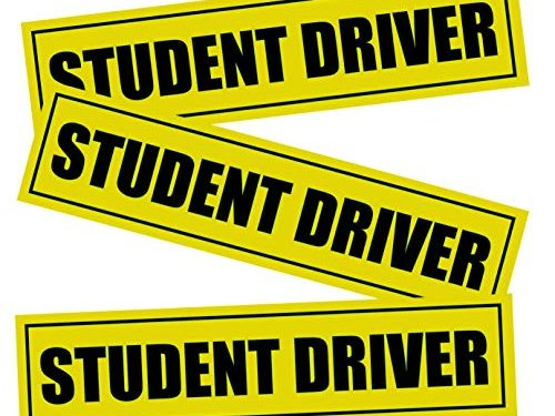 Advgears 3 Pcs Student Driver Magnet Stickers Signs Car Vehicle Reflective Sign Bumper Sticker for New Driver