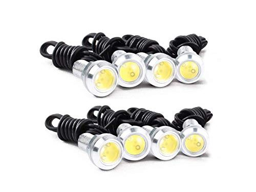 HOTSYSTEM Eagle Eye Led Light Bulbs 9W DC12V 12mm for Off-Road Car ATV Camper Trunk Motorcycle Day Time DRL License Plate Turn Signal Stop Parking Tail Reverse Fog Trunk Backup Light White,8-Pack