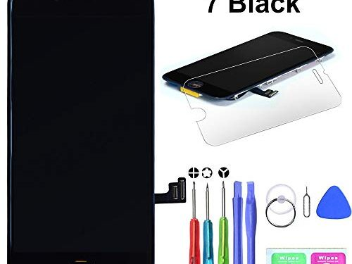 LYESS Screen Replacement Compatible for iPhone 7 Black 4.7 Inch with 3D Touch – LCD Screen Display Touch Digitizer Frame Assembly Set, Complete Tools Kit and Detailed Instructions Included