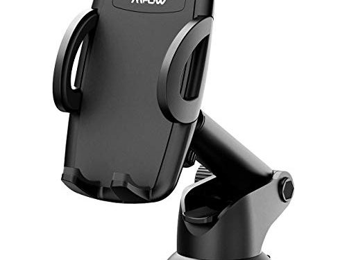 Mpow Car Phone Mount, Phone Holder, on Dashboard/Windshield, 360° Rotation, One-Hand Operation, Compatible iPhone X/8/8Plus/7/7Plus/6s/6Plus/5S, Galaxy S5/S6/S7/S8, Google Nexus, LG, Huawei More