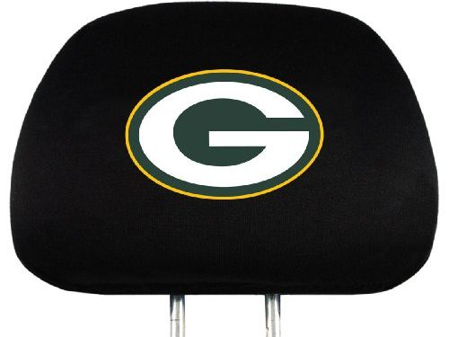 NFL Green Bay Packers Head Rest Covers, 2-Pack
