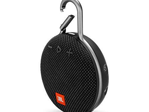 Black – JBL Clip 3 Portable Waterproof Wireless Bluetooth Speaker