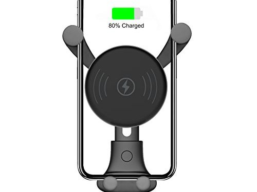 BESTHING 10W Wireless Charger, Wireless Fast Car Mount, Air Vent Phone Holder, 10W Compatible for Samsung Galaxy S9/S9+/S8/S8+/Note 8, 7.5W Compatible for iPhone Xs Max/Xs/XR/X Black