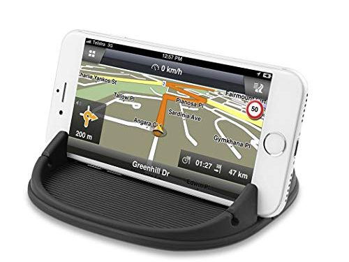 Besiva Car Phone Holder, Car Phone Mount Silicone Phone Car Dashboard Car Pad Mat Various Dashboards, Anti-Slip Desk Phone Stand Compatible with iPhone, Samsung, Android Smartphones, GPS, Black