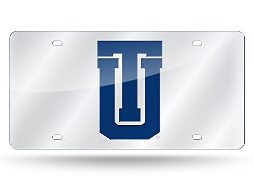 Rico Industries NCAA Tulsa Hurricanes Laser Inlaid Metal License Plate Tag, Silver