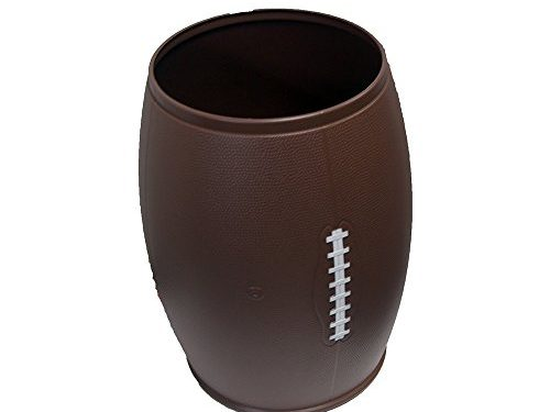 Fanbasket international Football Garbage Can, Holds 6 Gallons Snack/Drink/Garbage Container