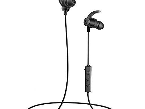 Bluetooth Headphones TaoTronics Sweatproof Wireless Headset Sports Earphones 8 Hours 4.2 Magnetic Earbuds IPX6 Waterproof, aptX Stereo, CVC 6.0 Noise Cancelling Mic