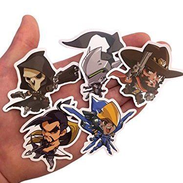 Pack of All 27 Characters Cute – Overwatch Custom Print Die Cut Bumper Vinyl Stickers