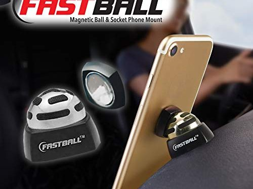 Original As Seen On TV Fastball Magnetic Phone Mount by BulbHead – Universal 360 Degree Magnetic Phone Holder Swivels to Perfect Viewing Position, Keeps Cell Phone in Place in The Car … 1 Pack