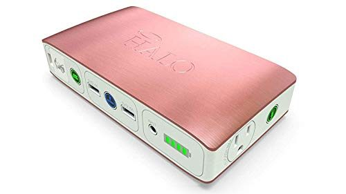 Rose Gold – Halo Bolt 58830 Mwh Portable Phone Laptop Charger Car Jump Starter with AC Outlet and Car Charger