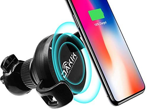 OD Tech Wireless Car Charger – Car Wireless Charger for Apple iPhone X/8/8 Plus, Samsung Galaxy Note 8/S8/S8+/S7/S6 edge+/Note 5 and All QI-Enabled Devices UPGRADED 10W, Usb Car Charger