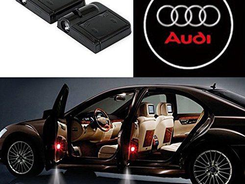 Bearfire 2 Pcs Wireless Car Door Led Welcome Laser Projector Logo Light Ghost Shadow Light Lamp Logos audi
