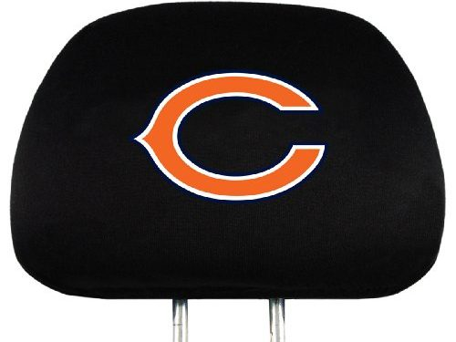 NFL Chicago Bears Head Rest Covers, 2-Pack