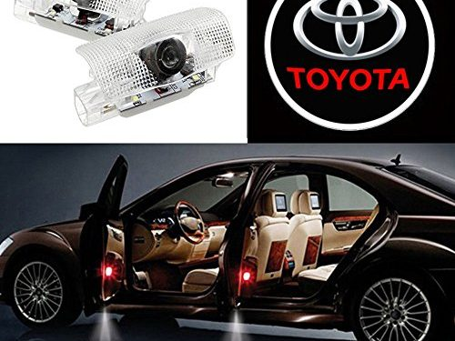 Auto Sport Car Door Logo Shadow Projector LED welcome Light toyota