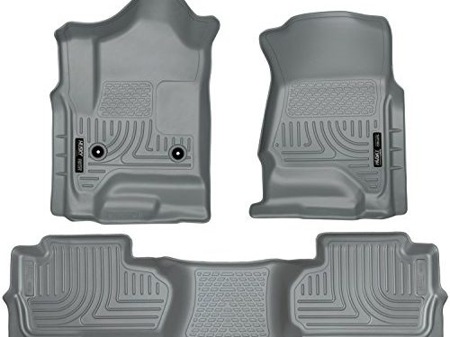 Husky Liners Front & 2nd Seat Floor Liners Fits 14-18 Silverado/Sierra Double