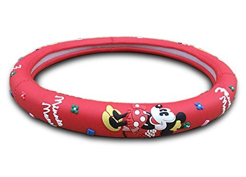 Universal Fit – Red – Finex Silicone Minnie Mouse Auto Car Steering Wheel Cover