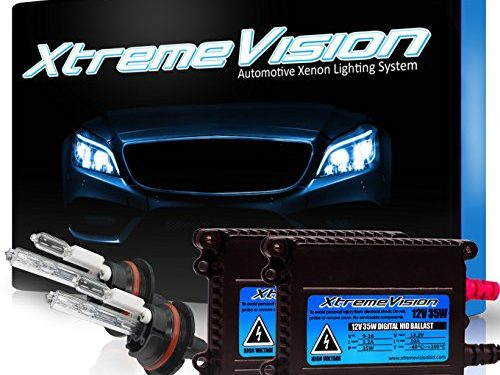 XtremeVision 35W HID Xenon Conversion Kit with Premium Slim Ballast – Light Blue – 9004 6000K – 2 Year Warranty