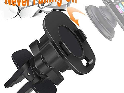 Car Mount for Pop Users, 360° Rotation Air Vent Pop Out Stand Car Mount Compatible with GPS Navigation or Any Phone with Pop Grips