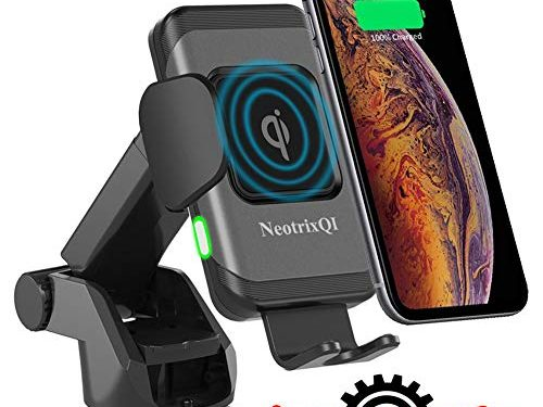 Wireless Car Charger, Lenture 10W Auto Clamp 2-in-1 Qi Fast Charger Car Mount Air Vent &Dashboard Phone Holder for iPhone Xs Max/XR/Xs/X/8 Plus, Samsung Galaxy S9 Plus/S8/S8 Plus